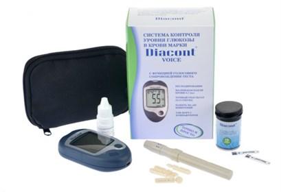 """Система контроля уровня глюкозы в крови """"Diacont VOICE"""" с функцией голосового сопровождения. - фото 5513"""