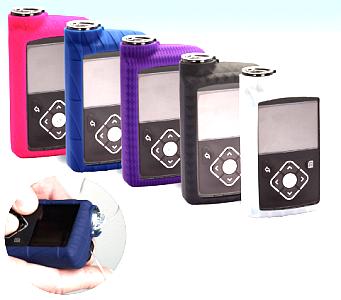 Скин силиконовый для помпы MiniMed 640G и 670G, (белый, синий, розовый, фиолетовый) - фото 5627