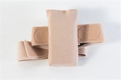 Чехол с текстильной застежкой для крепления инсулиновой помпы на ноге (бежевый)