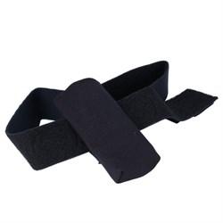 Чехол с текстильной застежкой для крепления инсулиновой помпы на ноге (чёрный)