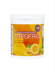 Конфеты жевательные  HYPOFREE с глюкозой со вкусом апельсина  (4г. глюкозы в 1 табл.),  (54 шт.)